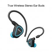 Casti bluetooth sport cu carlige de urechi detasabile Blue