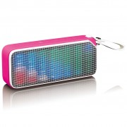 Lenco Bluetooth Stereo Speaker Disco Light BT-191 Pink