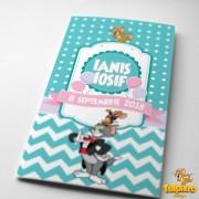Invitaţie botez Tom şi Jerry (Model 2)