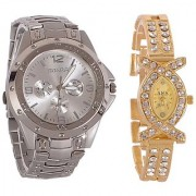 Rosra Silver + X Collection Fancy Couple Analog Watches For Men And Women