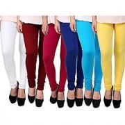 Aashish Fabrics Multicolor Viscose Leggings (Pack of 6)