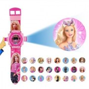 New Barbie Pink Projector Photo Lite Watch For Baby Girls Boys Kids Watch