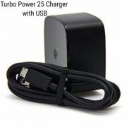 New Turbo Power 25 Charger With USB For Motorola Moto C Moto E3 Moto E Moto G2 Moto E4 Moto E4 Plus Moto G3