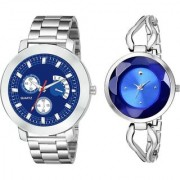 yug 05 153159-New Stylish Beloved Couple Watches for Men and Women Analog Watch - For Couple
