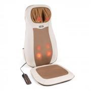 KLARFIT Nukuoro Massage-Sitzauflage Shiatsu-Massage 3 Massagezonen beige