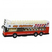 JGG Jain Gift Gallery Die Cast Metal Side Seeing Bus 8150 Color May Vary