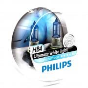 2 ampoules PHILIPS HB4 9006 Diamond Vision 55W