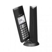 """Безжичен телефон Panasonic KX-TGK210EXW, 1.5"""" (3.8 cm) LCD дисплей, вътрешен/външен обхват 300/50м, функция """"свободни ръце"""", до 6 слушалки към базата, черен"""
