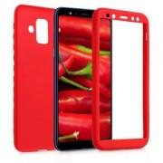 kwmobile Pouzdro pro Samsung Galaxy A6 (2018) - tmavě červená