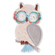 ELECTROPRIME® Sequin Owl Patches DIY Embroidery Sew On Applique Sewing Repair Patch Crafts
