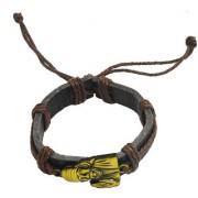 Sullery Lord Sai Baba Leather Bracelet