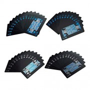 AST Works 55 Pcs/Deck Poker Waterproof Playing Cards Set Classic Magic Tricks Black HOT!