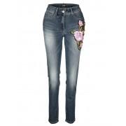 AMY VERMONT Jeans mit Paillettenapplikation, blau