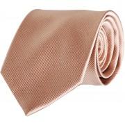 Krawatte Seide Beige Uni F54 - Beige
