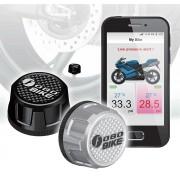 Sistem Performant FOBO TPMS Bike pentru Motociclete sau ATV de Monitorizare a Presiunii si Temperaturii din Roti pe Telefon prin Bluetooth - 6 Bari