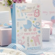 Tiny Feet Pink and Blue Party Bags