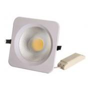 Projectores de Tecto Falso LED 180x180mm, 1600lm, 4100K, 20W, 120º