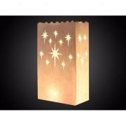 Geen 20x Candle bags met sterren print 26 cm