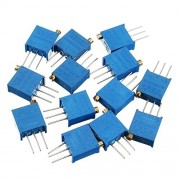 HITSAN 100R-1M 39pcs 13 Values 3296 Potentiometer Pack Adjustable Resistance Pack Component Pack 3pcs Each Value One Piece