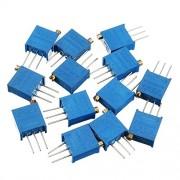 HITSAN 100R-1M 65pcs 13 Values 3296 Potentiometer Pack Adjustable Resistance Pack Component Pack 5pcs Each Value One Piece