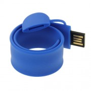 Silicone Bracelet USB Flash Disk with 16GB Memory(Dark Blue)