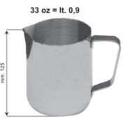 Inox tejkiöntő 0,9L