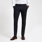 River Island Mens Navy super skinny fit smart trousers (38R)