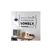 ELECTROPRIME Black Words Sign Quote Removable Wall Sticker Art Decal Room Decoration Reusable Wallpaper Wall Stickers Quotes for Girls