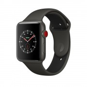 Умные часы Apple Watch Edition Series 3 38mm with Sport Band Cellular Ceramic MQK02 Black (Черный)