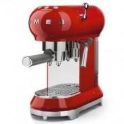 Smeg 50's Style Retro Espresso Coffee Machine Free Delivery - Fiery Red