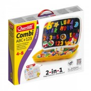Joc creativ ABC+123 Quercetti forme magnetice