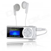 """1.0 Player"""" Pantalla OLED MP3 w / antorcha / Clip / TF / Mini USB - plata + blanco"""
