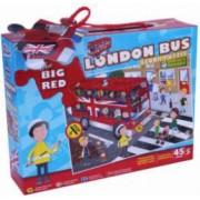 Puzzle de podea - Plimbare cu autobuzul 45 piese