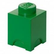 Cutie depozitare LEGO 1x1 verde inchis 40011734