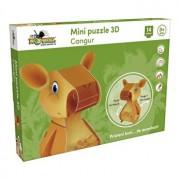 Mini Puzzle 3D Cangur, 14 piese