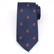 Férfiak selyem nyakkendő (minta 363) 8435 a sötét kék szín