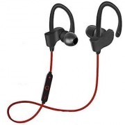 Mobicovers QC-10S Wireless Bluetooth Headphones Headset in-Ear Sport Wireless Earphones with Hands-Free MIC - (Red)