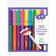 DJECO 10 canetas de feltro mágicas, da DJECO bege medio liso com motivo