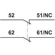 Homlokoldali segédérintkező TR1D/F és TR1E kontaktorokhoz - 230V, 50Hz, 2A, 2xNC TR6DN02 - Tracon
