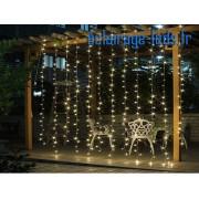 Guirlande LED 3*3M Blanc chaud rideau 300 led 18W 230v. ref gl-18
