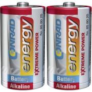Set 2 baterii alcaline D, 1,5 V, Conrad energy Extreme Power