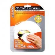 Allsop CD/DVD Fast Wipes Panni umidi per la pulizia dell'apparecchiatura CD's/DVD's
