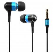 Audífonos Bluetooth, ES-Q3 Universal 3.5mm Atado Con Alambre Estupendo Bajo Ruidoso Volumen Auricular Interno (azul)