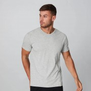 Myprotein Luxe Classic V-Neck T-Shirt - Silber - XL
