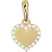The Jewelry Collection Hanger Hart Zirkonia - Goud