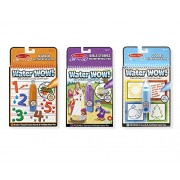 Melissa & Doug On the Go Water Wow! Water-Reveal Activity Pads Set - Colors and Shapes, Numbers, Bible Stories