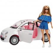 Barbie Coche Fiat Muñeca Con Coche Mattel
