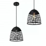 [lux.pro]® Lámpara colgante de diseño negra metal - 1 x E27