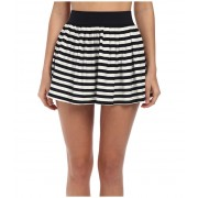 Kate Spade New York Georgica Beach Stripes Cover-Up Skirt Black