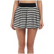 Kate Spade New York Georgica Beach Stripes Cover-Up Skirt Black
